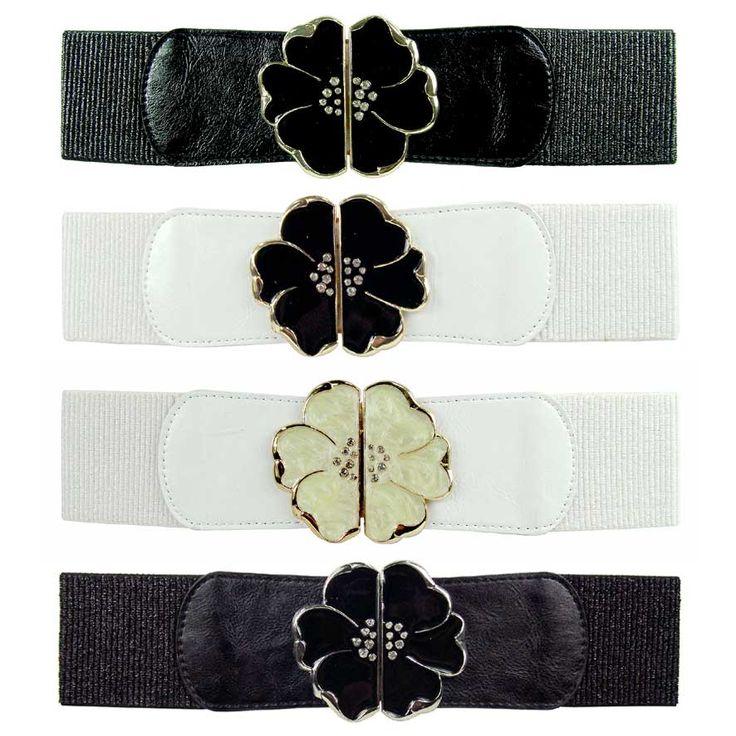 Flower featured Adjustable Belt <br />Size: 72cm <br />