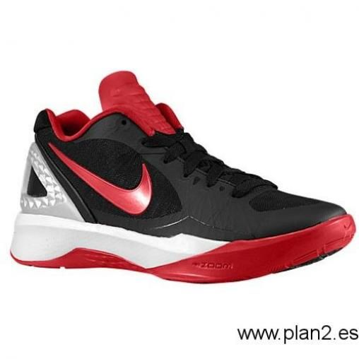 Mujer España Nike Volley Zoom Hyperspike - Volleyball Zapatos Negro Metallic  Plata Blanco  12f1f2538