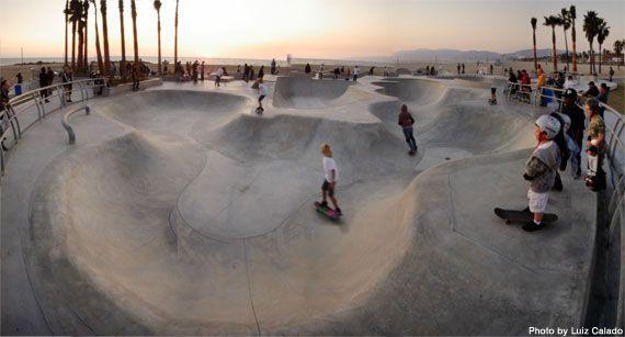 Venice Beach Skatepark - Venice, Los Angeles, CA. USA