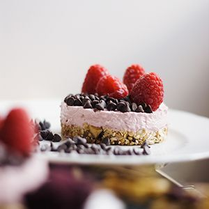 Creamy Raspberry Cheesecake - Green Road to Bliss