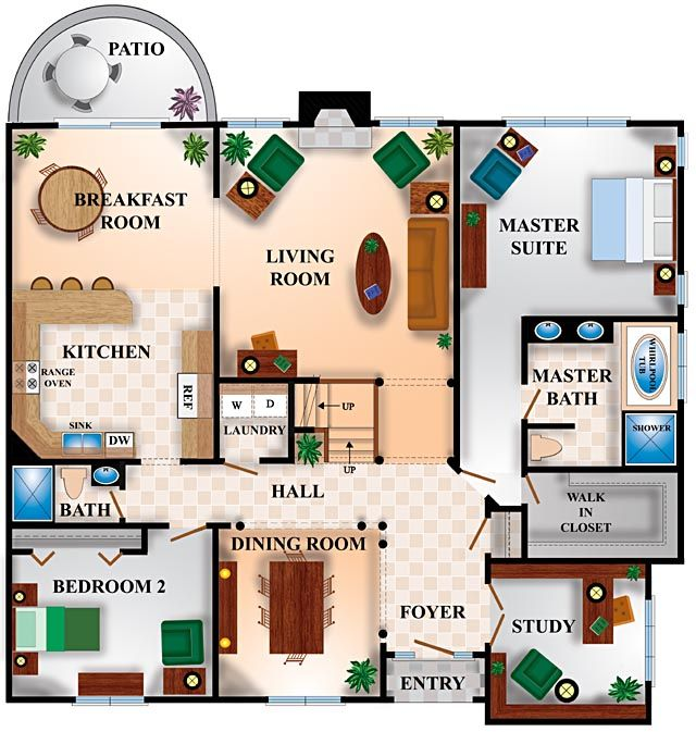 38 Best Images About Architecture Colored Floor Plan On: create house floor plans free