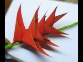 How to make Paper Flowers Bird Of Paradise (Flower # 46) - YouTube
