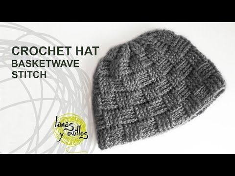 Subscribe here!! http://bit.ly/1LMYlTG More free patterns here http://www.lanasyovillos.com How to crochet a basketwave stitch crochet hat for man and woman ...