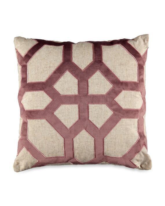 Parquet Velvet Applique Decorative Pillow Throw Pillows Pillows Decorative Throw Pillows
