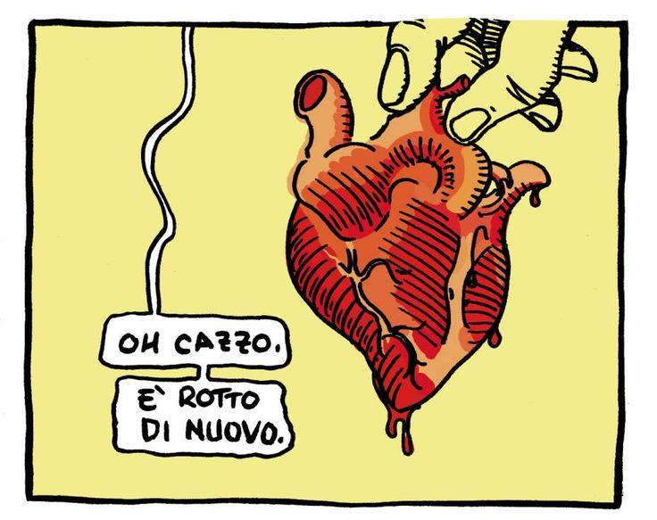 """""""Oh shit! It's broken, again!"""" . Davide Toffolo dei Tre Allegri Ragazzi Morti."""