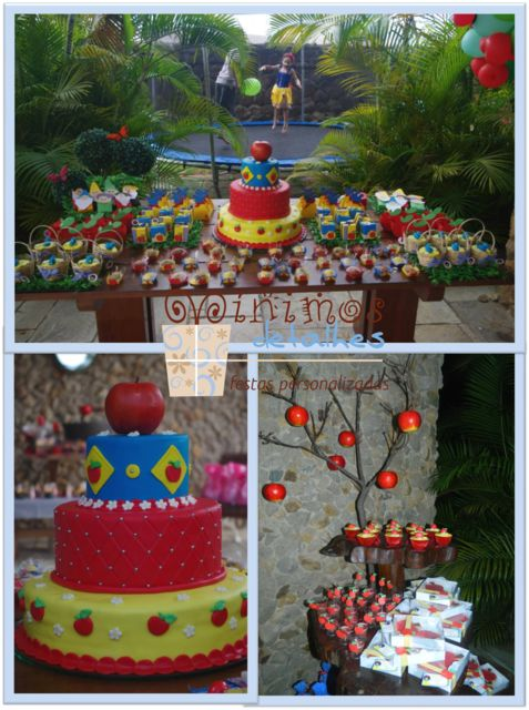 Snow White Birthday Party Ideas! See more party ideas at CatchMyParty.com!