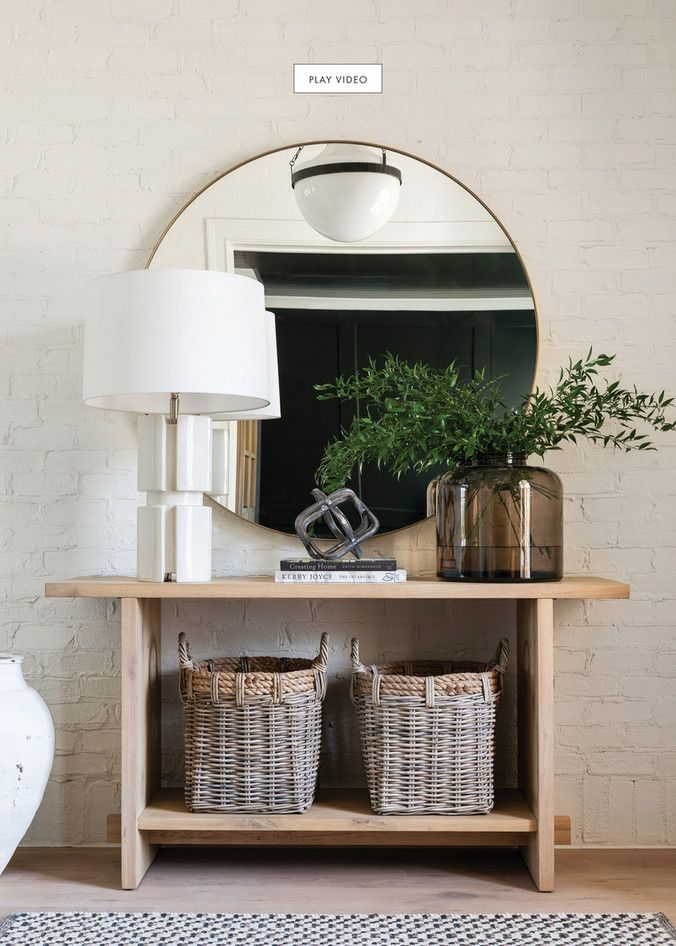 mcgee and co holiday catalogue 2019 page 4 5 on small entryway console table decor ideas make a statement with your home s entryway id=93876