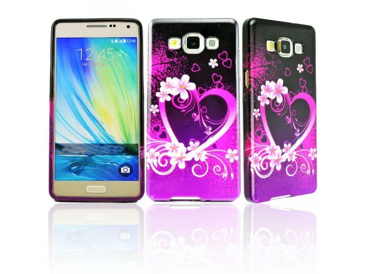 Silikónový kryt (obal) pre Samsung Galaxy Alpha - srdcia