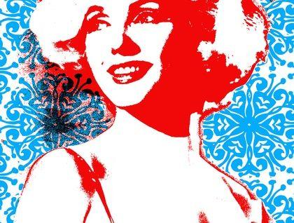 'Marilyn Monroe' Hand Printed Tea Towel by Plum Jam