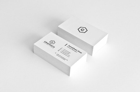 Simple Corporate Business Card - 19 by nazdrag on @creativemarket