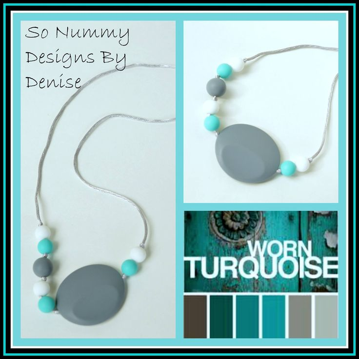 Mothers jewelry with a special function, this necklace is made from food grade silicone so your baby can chew it safely....awesome for teething babes and looks great too!