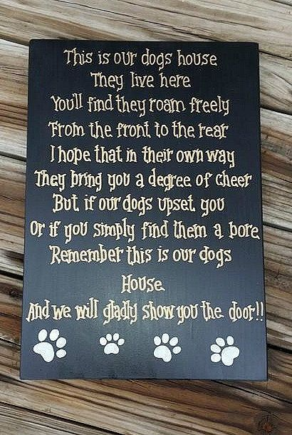 Pet Rules For The Home – Rules for Non Pet Owners – Hand Painted Wooden Sign – Pets – Dog Home Decor – Wall Sign for Pets