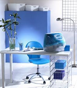 Decoracion de oficinas azules