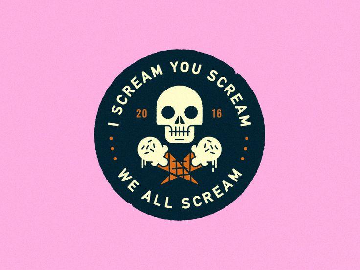I Scream You Scream by Steve Wolf Designs