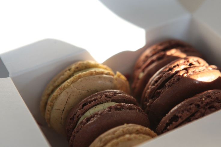 Macarons pistache & chocolat