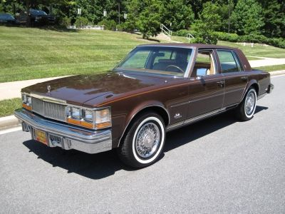 1977 Cadillac Seville- this is what my mom's car used to look like. Now it's black.