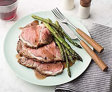 Get this all-star, easy-to-follow Roast Prime Rib with Thyme au Jus recipe from Bobby Flay