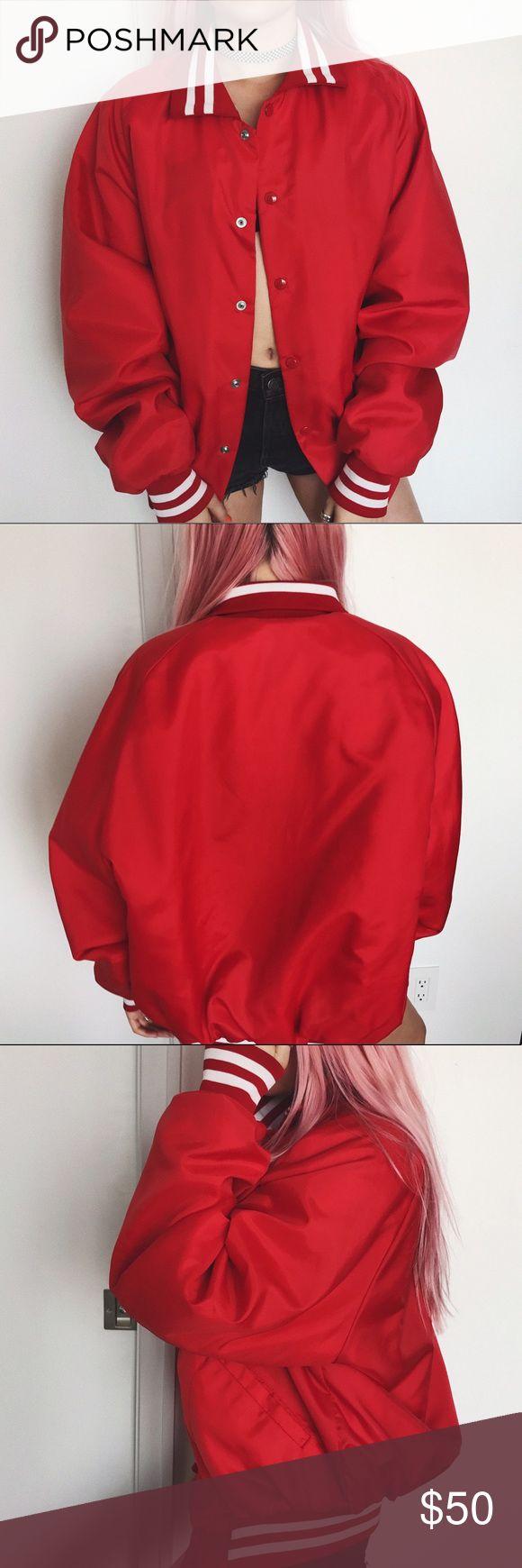 • vintage red baseball jacket • y Nasty Gal Jackets & Coats