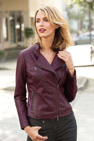 Capture Leather Biker $179 149523 Berry leather