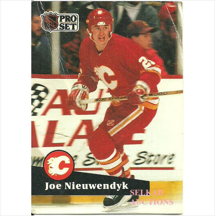 NHL Pro Set 1991 Hockey Trading Card #29 Joe Nieuwendyk #25 Calgary Flames on eBid Canada $0.10