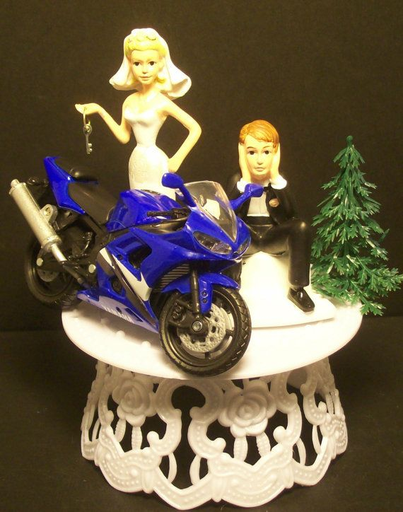 Motorcycle YAMAHA R6 YZF Wedding Cake Topper on Etsy, $91.74 AUD Showed Geoff this and we love it, Question is, Are wedding cake toppers tacky?