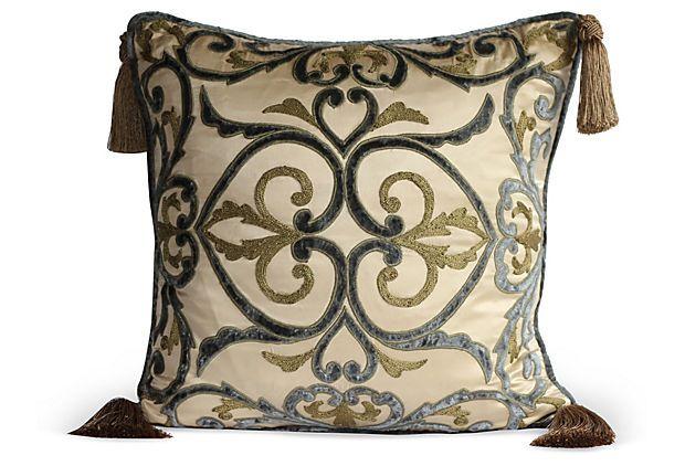 Silk Pillow w/ Tassels on OneKingsLane.com