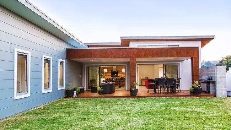 James Hardie Scyon Stria, external patio design, timber patio ceiling, architecture, backyard design