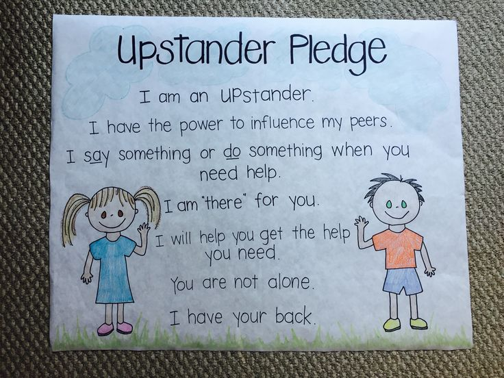 Classroom Pledge Ideas : Upstander pledge created at lietz elementary for use with