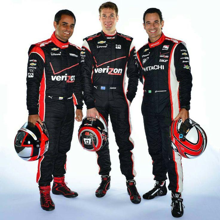 #IndyCar Pilots: Juan Pablo Montoya, Will Power and Helio Castroneves of Penske Racing