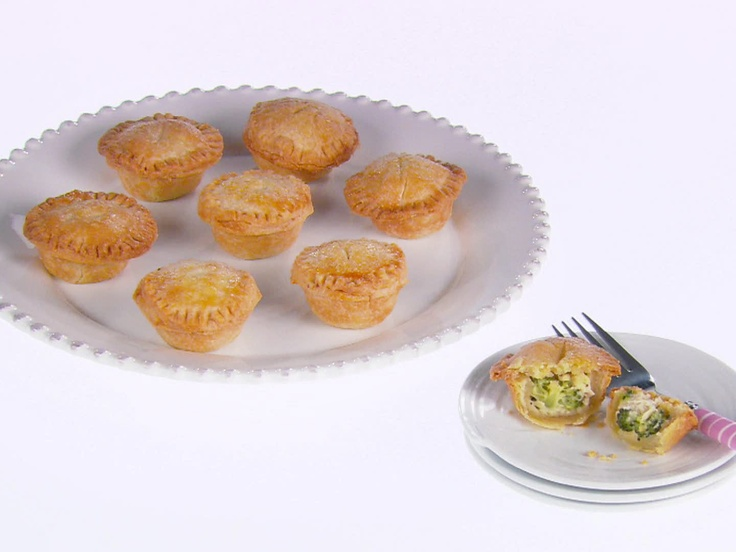 Mini Chicken and Broccoli Pot Pies from FoodNetwork.com