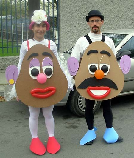 mr and mrs potato head costumes | Costumes designed for a Valentine's Day 5K run!
