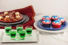 The Avengers party food