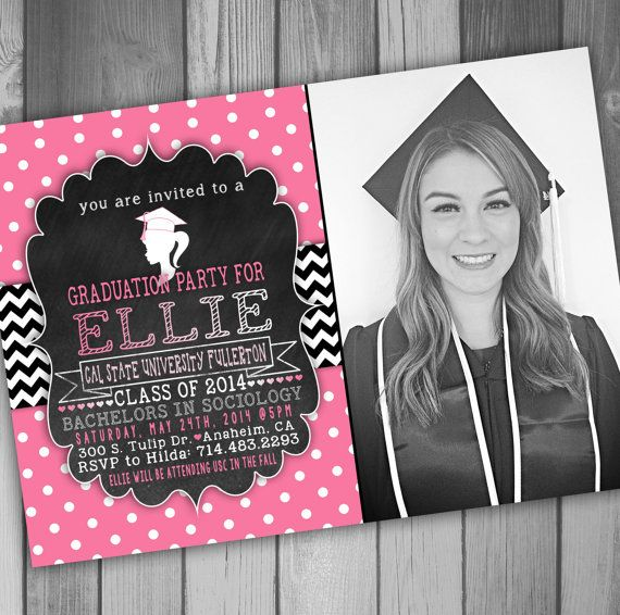 12 best grad invites images on pinterest invitations grad invites graduation party invitation girly graduation by claceydesign 1275 filmwisefo