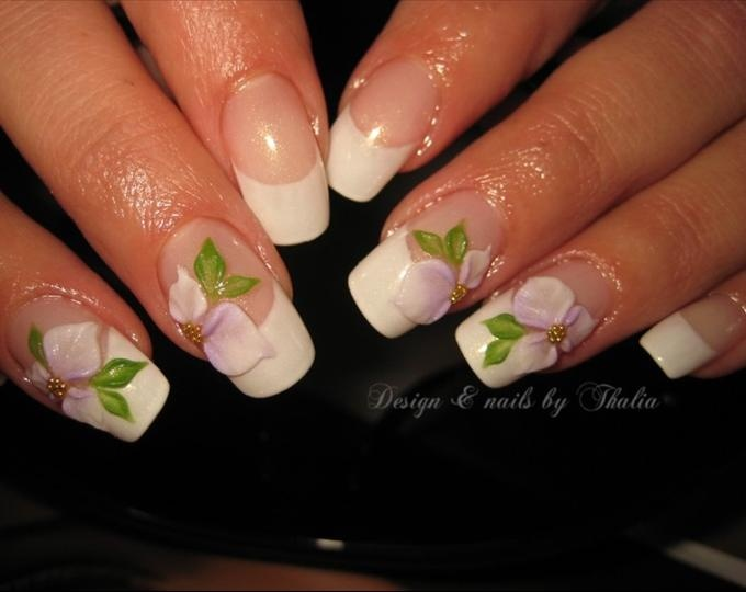 Image detail  of lovely 3-D nails