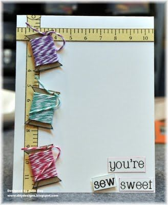 Cute Thank You Card- also can use dress form and measuring tape..