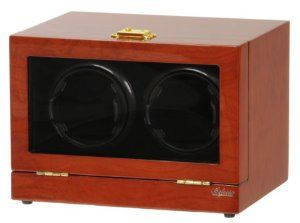 Delux Double Watch Winder with LCD Control Display W2EBGR Belocia. $149.95. Two turntables each can be set to different settings.. Ebony Solid Wood Piano Finish. Rotates clockwise, counter-clockwise or alternate.. Adjustable TPD range from 650 to 1800. With Digital LCD Dispaly and Touch Control Board