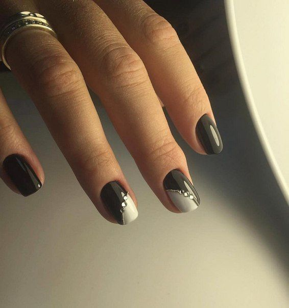 Beautiful evening nails, Easy nail designs, Elegant nails, Evening dress nails, Evening nails, Exquisite nails, Festive nails, Nails with rhinestones