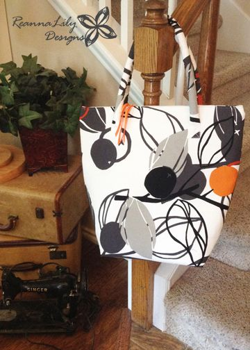 ReannaLily Designs | Insulated Grocery Tote Sewing Tutorial | by Jen Esrkidge using a car reflector