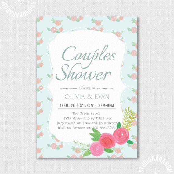 75 best cardsinvitations images on pinterest wedding reception diy floral wedding bride shower invitation barabom solutioingenieria Images
