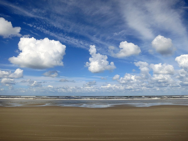 Schiermonnikoog, the largest beach in Europe. it's also technically a public road