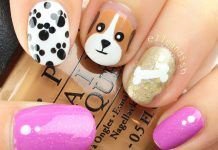 Uñas decoradas con perritos – Puppy dog Nail art