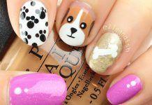 Uñas decoradas con perritos – Puppy dog Nail art