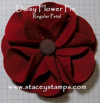 fleece flower that would be cute on something knitted
