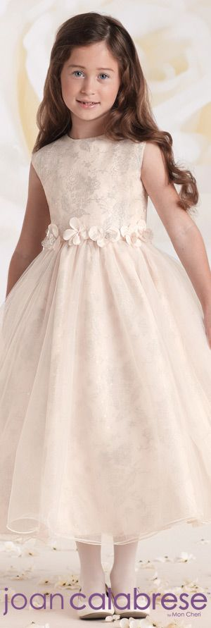 Joan Calabrese for Mon Cheri - Style No. 115323 #flowergirldresses calabresegirl.com