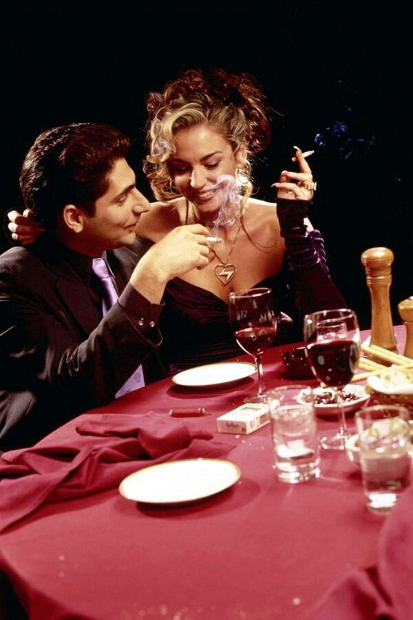 Adriana la Cerva and Christopher Moltisanti