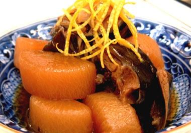yellowtail and chinese radish