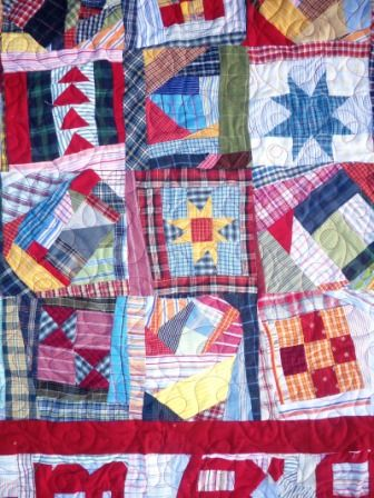 Crumb quilt - I want to be this carefree with my quilting! Isn't it happy?