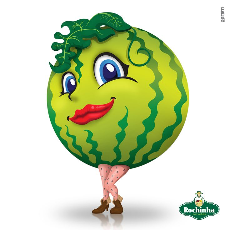 Mascote Fruta Melancia criado para Sorvetes Rochinha. Mascot Fruit Watermelon created for Ice Cream Rochinha.  #melancia #mascote #ilustração #sorvetesrochinha #zero11 #desenho #cartoon #fruta #mascot #illustration #watermelon #drawing #fruit #lucianocosmo  #lcosmo #luly
