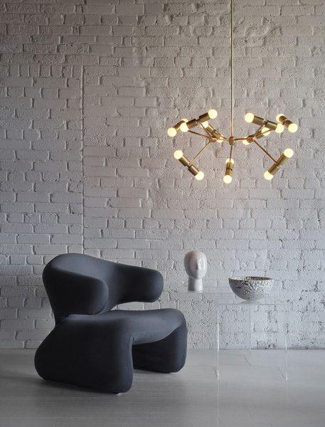 Inspirational  Atom light fixture from Lightmaker Studio in solid brass