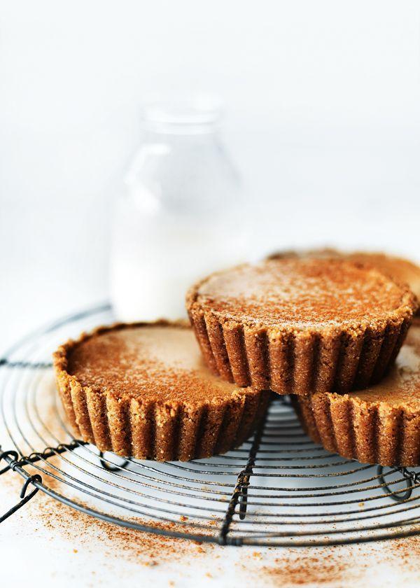 {Chai-spiced cheesecake tarts.}